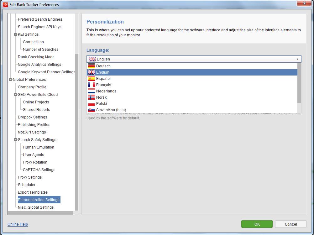 Rank Tracker localizations